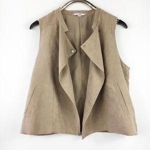 Jack BB Dakota Tan Suede Vest Pockets L